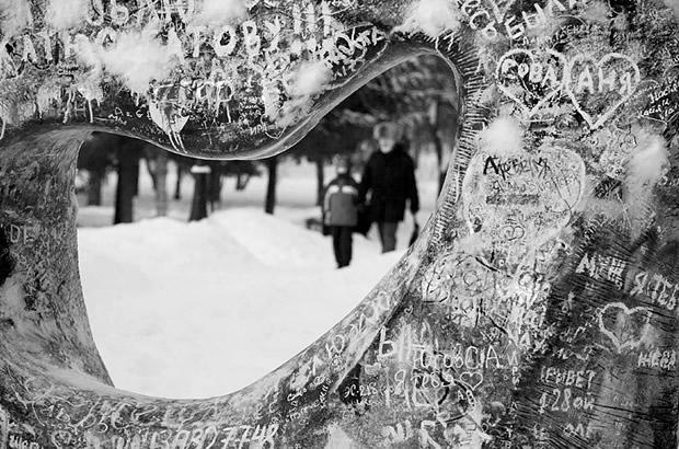 Каменное сердце в Первомайском сквере