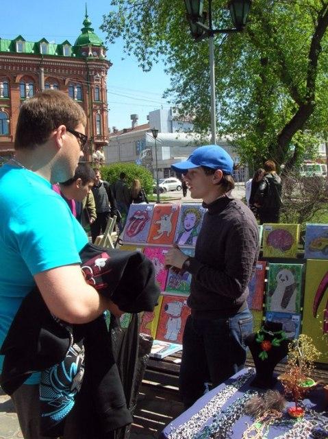 Продажа картин на ярмарке «Томский Арбат»