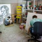 Стрит-арт проект «Уличная грязь» — Слава Птрк и Владимир Абих (Екатеринбург). 7 сентября на Каменке.