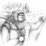 «Среди молчания тетива лиственного лука Мэбэта спела свою песнь — короткую и страшную. За время малое, как треск сучка, он выпустил три стрелы, и трое Ившей, вскрикнув от боли в простреленных ногах, повалились на снег» (из книги «Мэбэт»)