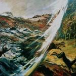 Ударная волна. Художник Н.И. Фёдоров, 1988 год (Серия «Тунгусский метеорит»).