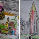 Раскраски для маленьких посетителей выставки