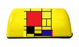 «Шашечки» для проекта «Такси за искусство».